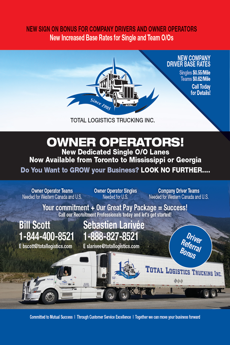 Total Logistics Trucking Inc  - Over The RoadOver The Road